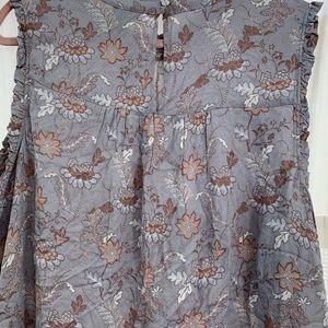 Torrid size 3 NWT sleeveless blouse top gray